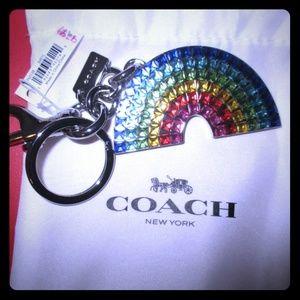 COACH Rainbow Bag Charm Keychain